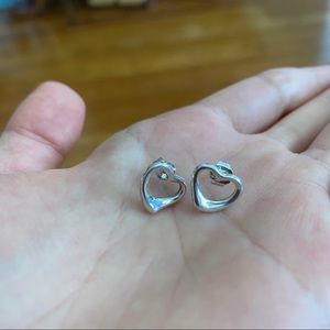 Tiffany & Co. Jewelry - Tiffany & Co Open Heart Earrings